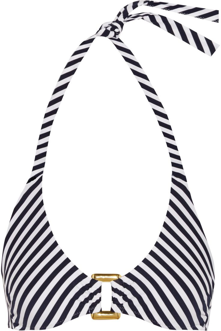 HEIDI KLEIN Striped Triangle Bikini Top. #heidiklein #cloth #top