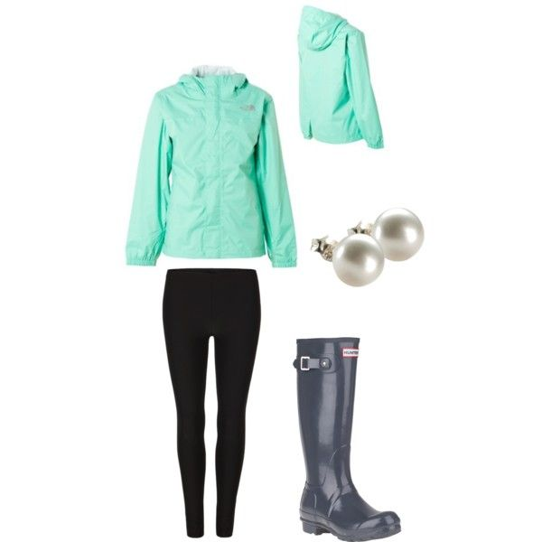 A fashion look from February 2013 featuring AllSaints leggings, Hunter boots and Oroton earrings. Browse and shop related looks.