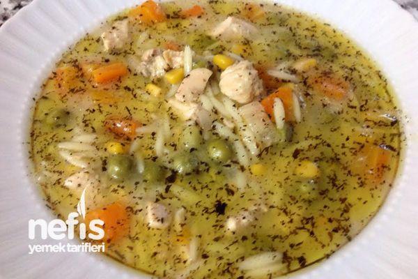 Tavuklu Sebze Çorbası Yapımı