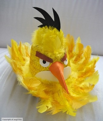 easy yellow angry bird for a boy who lets face it dont want daffodils etc