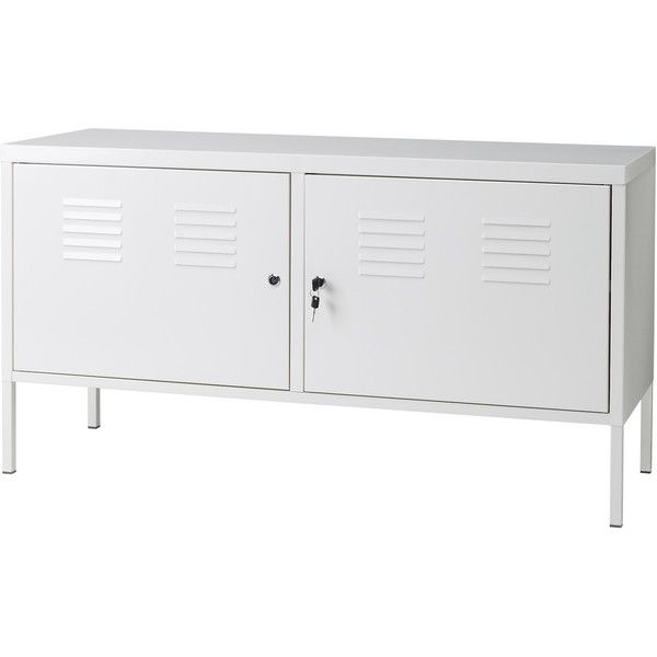 IKEA PS Cabinet, white (125 CAD) via Polyvore featuring ikea, cabinet, decor, furniture and storage
