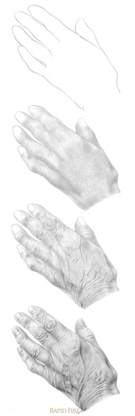 how to draw realistic hands