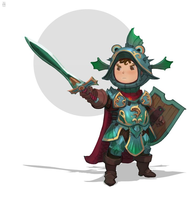 ArtStation - Chibi warrior, Alexander Trufanov