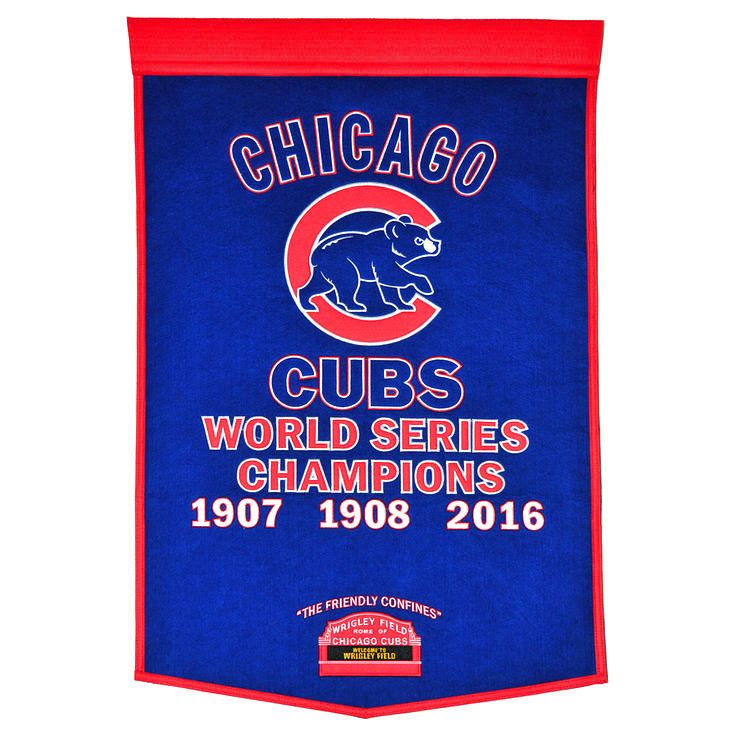 """Chicago Cubs 2016 World Series Champions 24"""" x 38"""" Dynasty Banner - $89.99"""