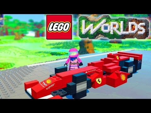LEGO WORLDS - RACETRACK BUILD! Car Racing In Lego Land #18 (Lego Worlds) - YouTube