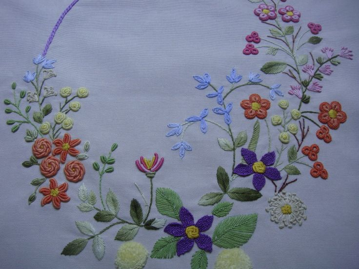 Spray of flowers cushion cover
