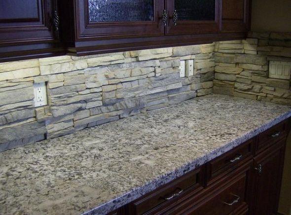 Kitchen Backsplash Stone best 25+ stacked stone backsplash ideas on pinterest | stone