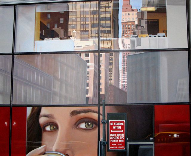NY reflection, acrylic on canvas, 150x120 cm. 2013
