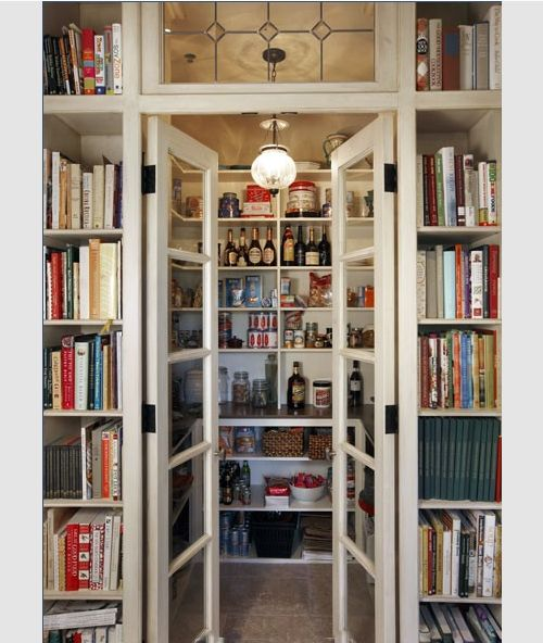 Save Space With Two Narrow Doors. Glazing Lets Light From Pantry/utility  Room Into Kitchen. Can Be Opaque Glass To Hide Washing Airing. Cook Books/ Shelves ...
