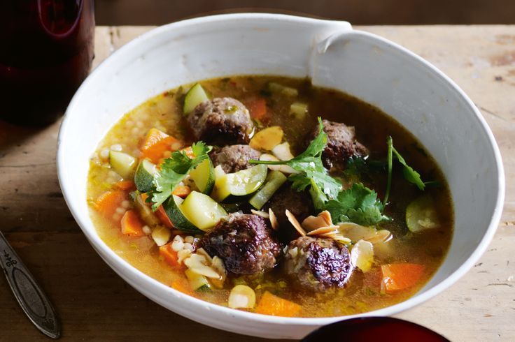 Dinner is easy with this Moroccan take on a meatball soup.
