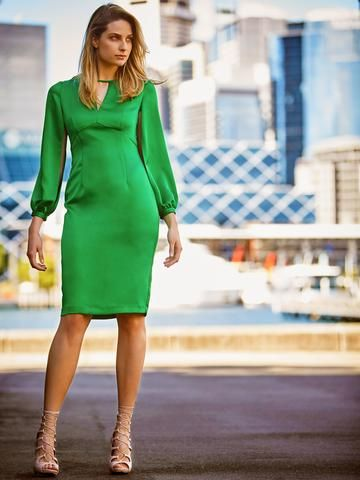 EMERALD // Genevieve Dress in store and online