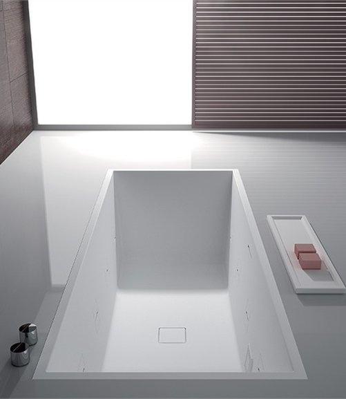 Rectangular bathtub PAPER by TEUCO GUZZINI | #Design Talocci Design #bathroom #wellness #white