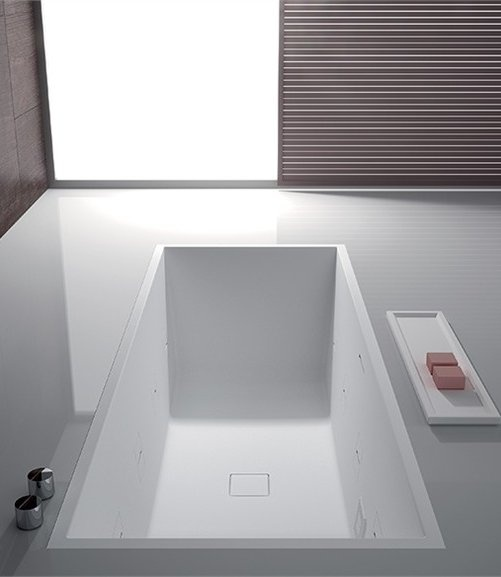 Rectangular bathtub PAPER by TEUCO GUZZINI | #Design Talocci Design #bathroom #wellness #white