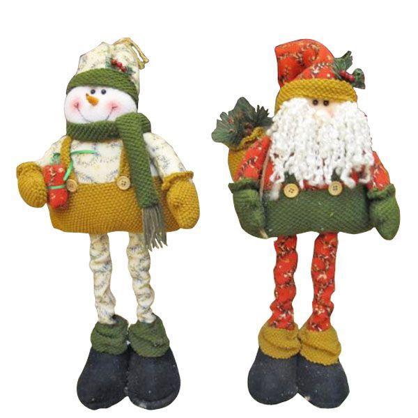 Muñeco de nieve Santa Claus padre telescópicas navidad Navidad para la decoración del regalo