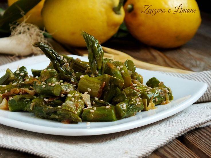 Asparagi+saltati+in+padella+al+sesamo
