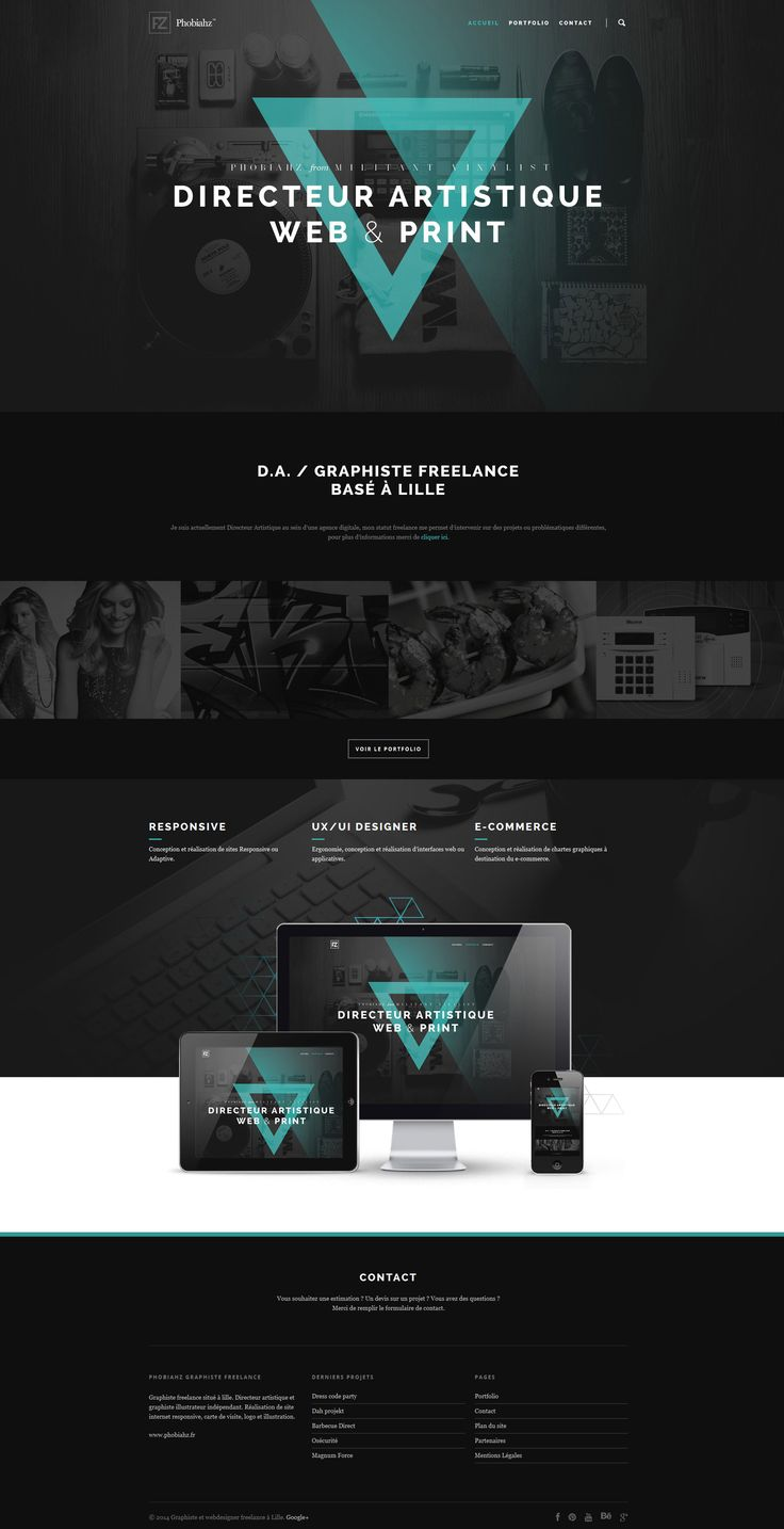 25 présentations originales pour des web design en full-page