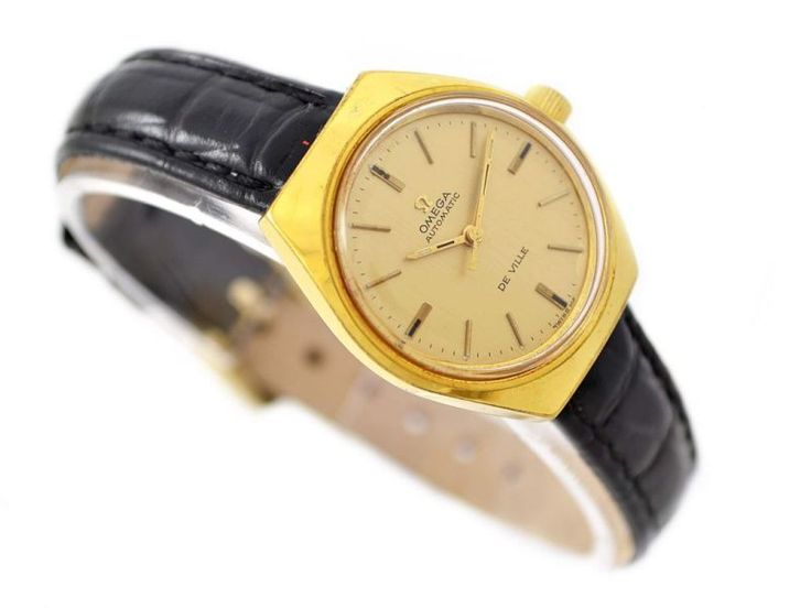 Omega Automatic De Ville Gold Plated Ladies Watch SKU: 1261