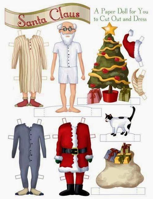 Imprimolandia: Recortable de Papa Noel