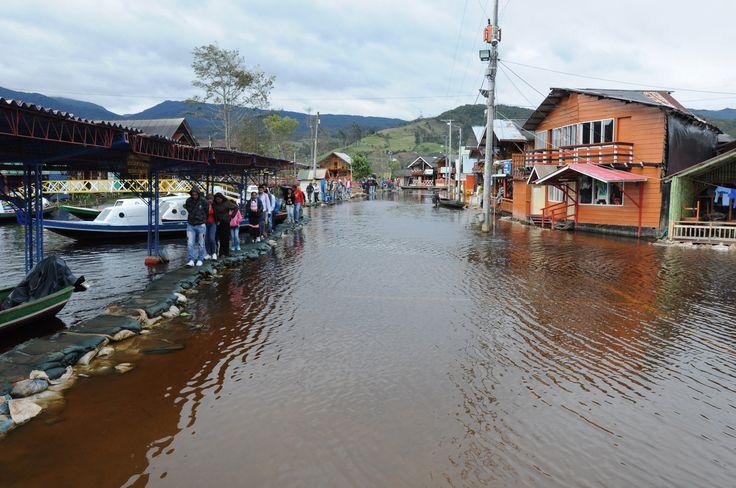 El Puerto inundado