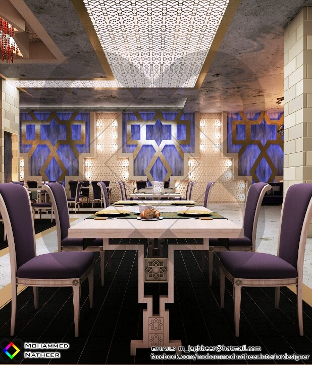 Modern Islamic Restaurant Design Reflect The Night Desert