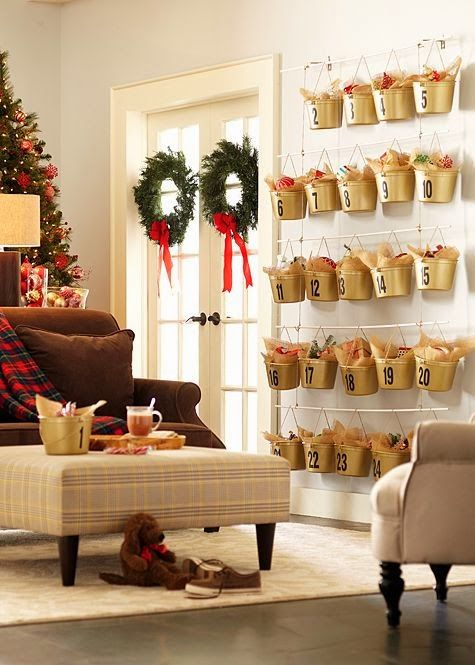 Christmas Craft Ideas, Bucket Advent Calendar - The Home Depot