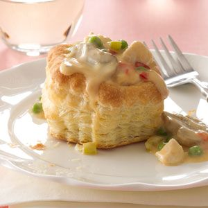 Pastry Chicken a la King Recipe- Recipes  Mom made this smell and look so divine, I forgot that peas—which I disliked—were in it. —Patty LaNoue Stearns, Traverse City, Michigan