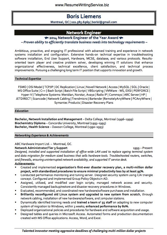Linux Network Engineer Resume Vosvetenet – Linux Resume Format