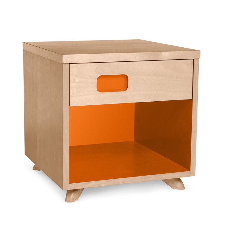 True Modern Nightstand In Popsicle Orange $399.00 Nice Design