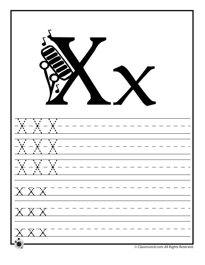 Learning Abc S Worksheets Learn Letter X Classroom Jr