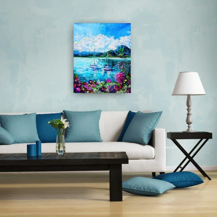 """""""I LOVE Italy"""" by Alena Shymchonak. The colours in this painting are mesmerising! Keep an original piece of Italian inspiration in your home and enjoy this original artwork for years."""