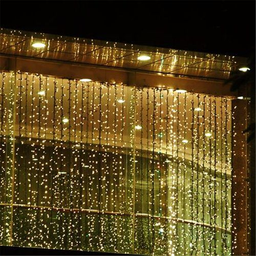 Fuloon 3M x 3M 300 LED Outdoor Party christmas xmas String Fairy Wedding Curtain Light 8 Modes for Choice 110V (Warm White) Fuloon http://www.amazon.com/dp/B00D86AGAC/ref=cm_sw_r_pi_dp_aWoPub17TJVWP