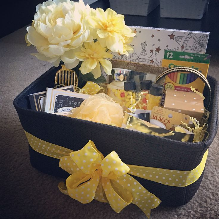 Box full of sunshine- gift idea for a friend who needs some cheering up. Cheerful gift / friend gift / feel better gift / get well gift