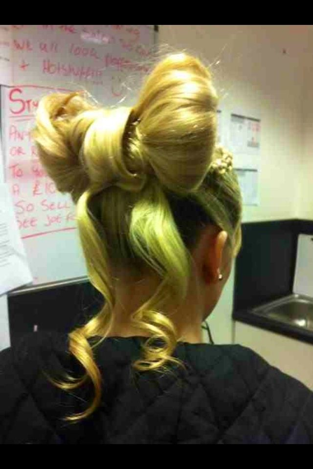 My bow updo