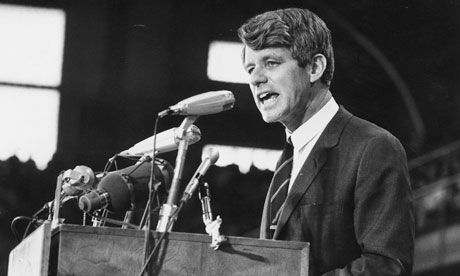 How GDP failed. Robert Kennedy addresses an election rally in 1968. Photograph: Harry Benson/Getty Images