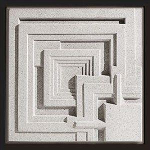 "16"" Ennis House Block. Frank Lloyd Wright Textile Block Period. 1924 Los Angeles, California"