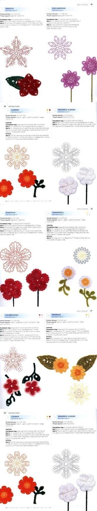 201 best CROCHET FLORES images on Pinterest | Crocheted flowers ...
