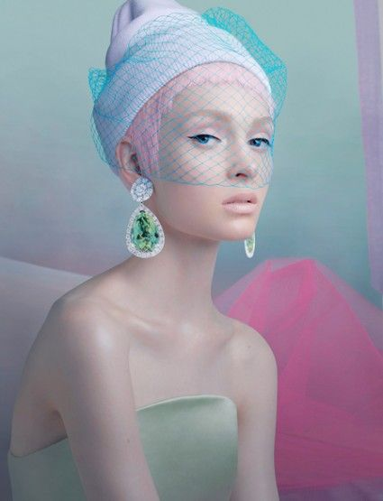 Fashion Magazine Editorial | Pastel shades #fashion #fashionphotography #makeup