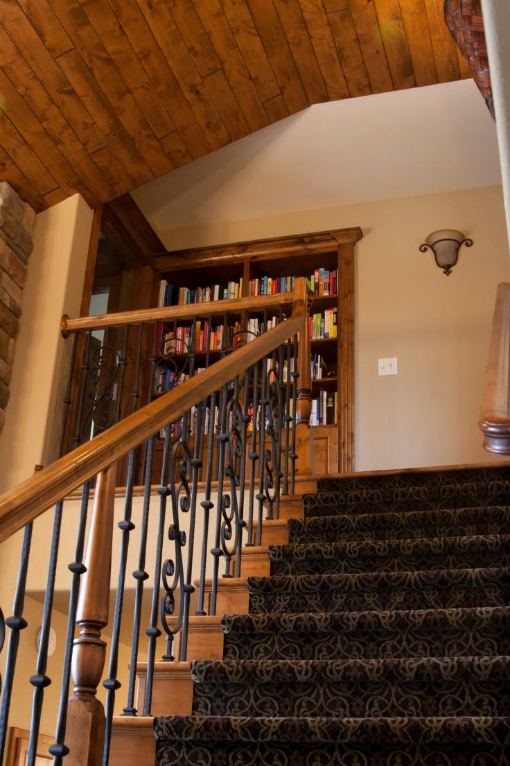 Stair systems alder staircase and mouldings with wrought for Manufactured stairs