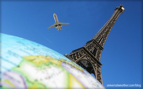 Pin by universal weather and aviation inc on business for Flights ny to paris
