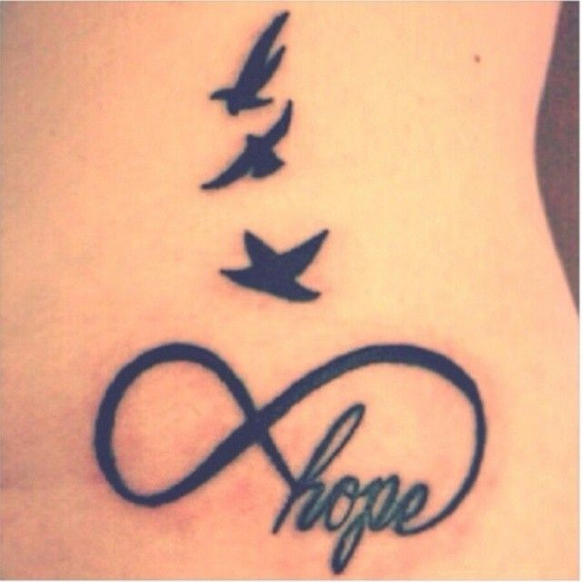 Tattoo Infinity Hope Birds Back Woman