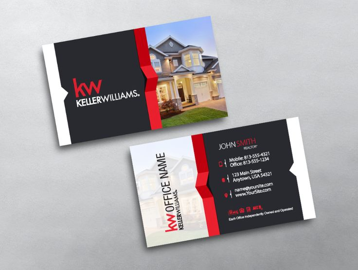 16 best new keller williams business card templates images on a classic real estate business card for keller williams professionals offering a nice balance of reheart Image collections