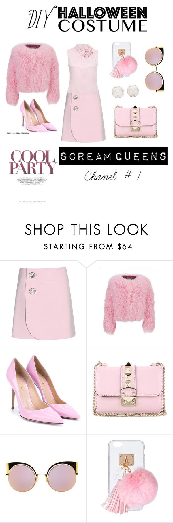 """Baby Pink X Chanel"" by assylajean ❤ liked on Polyvore featuring Marni, Charlotte Simone, Gianvito Rossi, Valentino, Fendi, Ashlyn'd, Chanel, halloweencostume and DIYHalloween"
