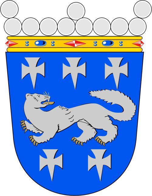 Central Ostrobothnia coat of arms. Keski-Pohjanmaan vaakuna