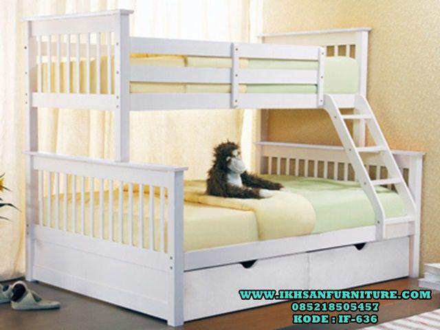 Tempat Tidur Anak Tingkat Minimalis Murah Cat Duco IF-636