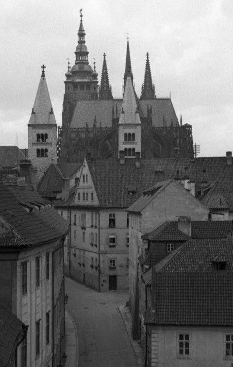 Chrám sv.Víta (777-1) • Praha, červenec 1960 • | černobílá fotografie, z Černé věže |•|black and white photograph, Prague|