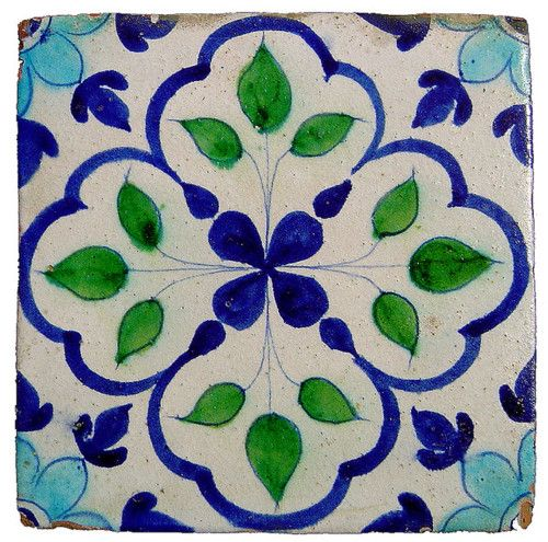 Glazed Tile from Hala, Sindh by zubairam on Flickr.