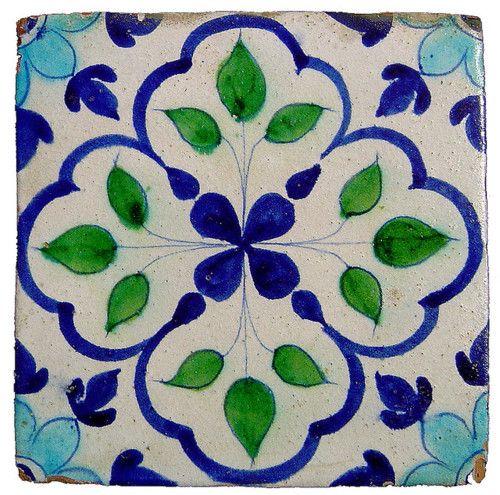 Glazed Tile from Hala, Sindh by zubairam on Flickr.