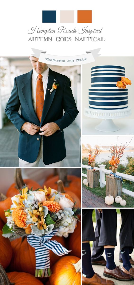Tidewater and Tulle | A Hampton Roads Virginia Wedding Inspiration Blog: How to do a Fall Nautical-Inspired Wedding - This could work in #NewEngland or #Maine as well.