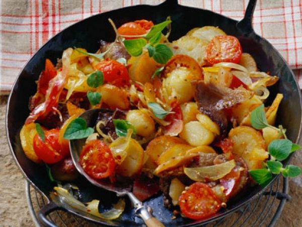 Aardappelpannetje met spek en ui - Makkelijk en snel klaar