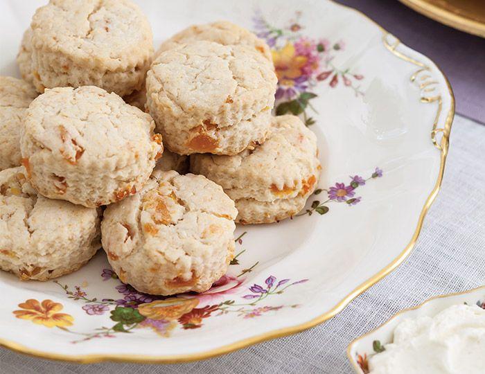 Apricot Sour Cream Scones Teatime Magazine Recipe Tea Sandwiches Recipes English Tea Recipes Sour Cream Scones